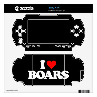 I LOVE BOARS PSP DECALS