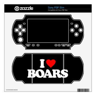 I LOVE BOARS PSP SLIM DECAL