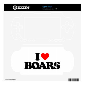 I LOVE BOARS SONY PSP DECALS