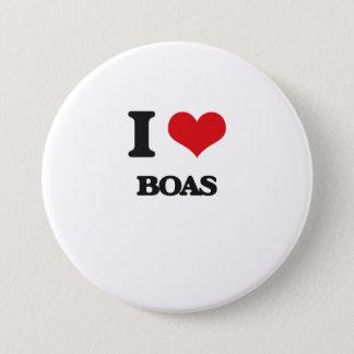 I Love Boas Button
