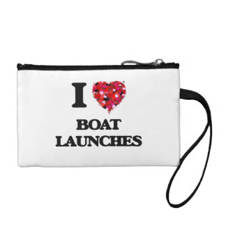 I Love Boat Launches Coin Purse