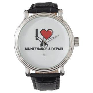 I Love Boat Maintenance & Repair Digital Design Wristwatches