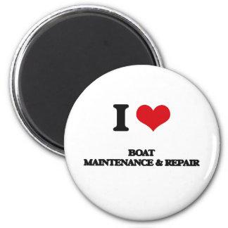 I Love Boat Maintenance & Repair 2 Inch Round Magnet