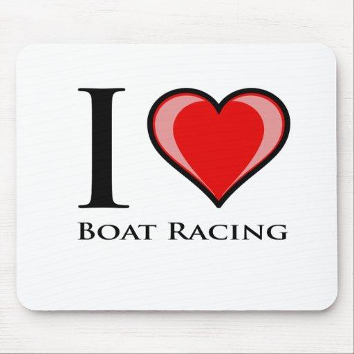 I Love Boat Racing Mousepad