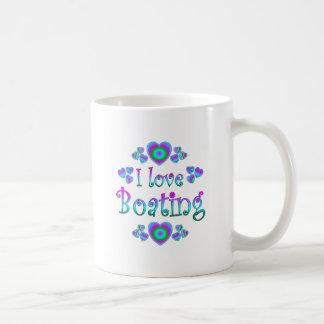 I Love Boating Coffee Mug