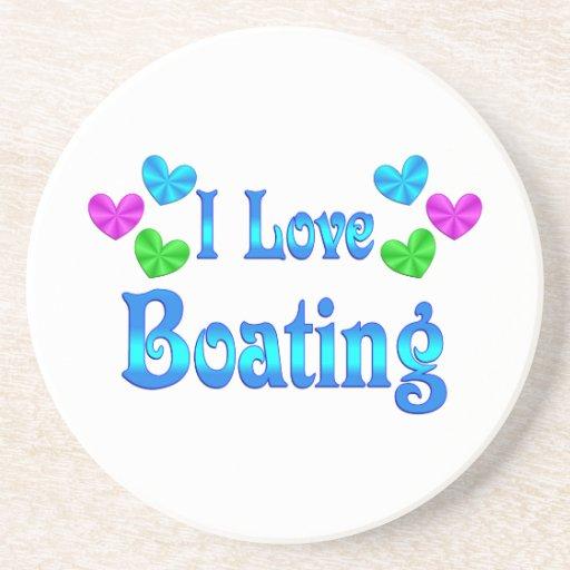I Love Boating Drink Coaster