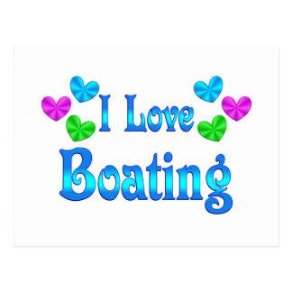 I Love Boating Postcard
