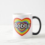 I love Bobby: rainbow heart Coffee Mug