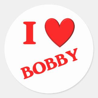 I Love Bobby Sticker