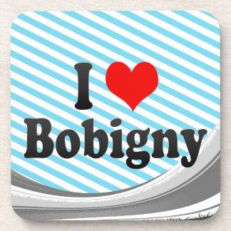 I Love Bobigny, France Beverage Coaster