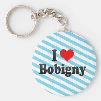 I Love Bobigny, France Keychains