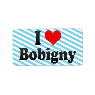 I Love Bobigny, France Personalized Address Label