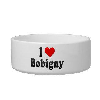 I Love Bobigny, France Cat Water Bowls