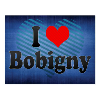 I Love Bobigny, France Post Cards