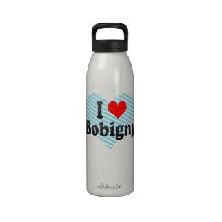 I Love Bobigny, France Reusable Water Bottle