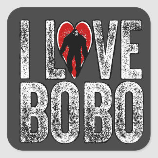 I Love Bobo Square Sticker