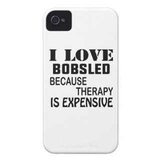 I Love Bobsled Because Therapy Is Expensive iPhone 4 Case-Mate Case