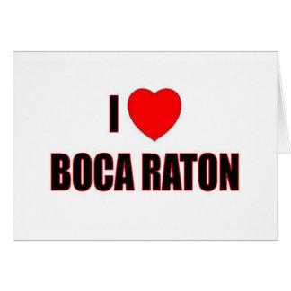 I Love Boca Raton Card