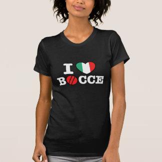 I Love Bocce T Shirt
