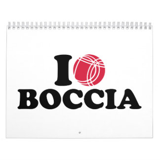 I love Boccia Boule Calendar