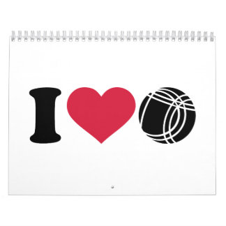 I love Boccia Petanque Calendar