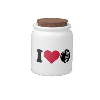 I love Boccia Petanque Candy Jar