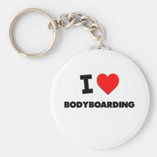 I Love Bodyboarding Keychain