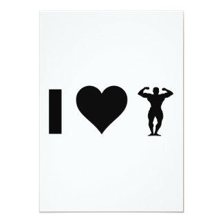 I Love Bodybuilding Card