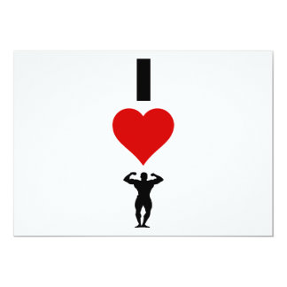 I Love Bodybuilding (Vertical) Card