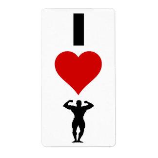 I Love Bodybuilding (Vertical) Label