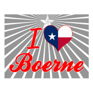 I Love Boerne, Texas Post Cards