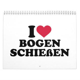 I love Bogenschießen Calendar