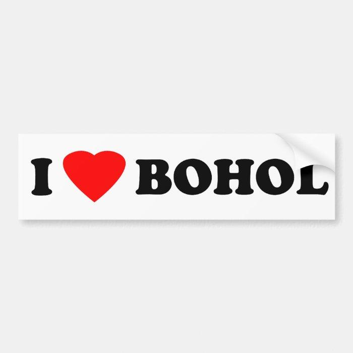 I Love Bohol Bumper Sticker