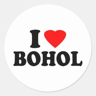 I Love Bohol Classic Round Sticker