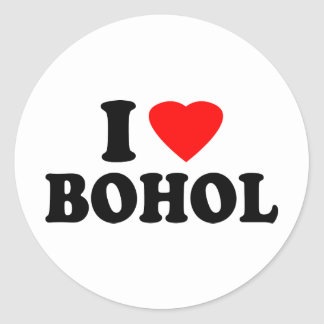 I Love Bohol Sticker
