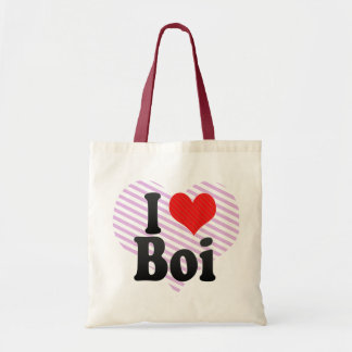 I Love Boi Canvas Bags