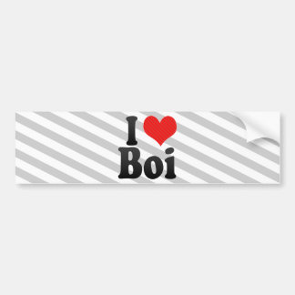 I Love Boi Bumper Stickers