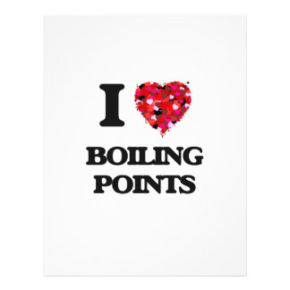 """I Love Boiling Points 8.5"""" X 11"""" Flyer"""