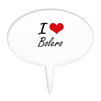 I Love BOLERO Cake Pick