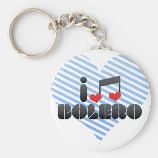I Love Bolero Key Chain