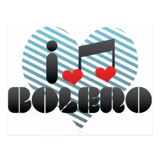 I Love Bolero Postcard