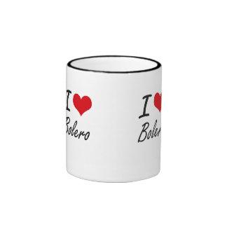 I Love BOLERO Ringer Coffee Mug