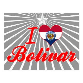 I Love Bolivar, Missouri Postcard
