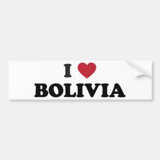 I love Bolivia Car Bumper Sticker