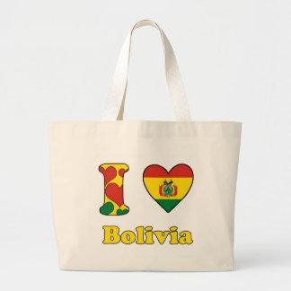 I love Bolivia Large Tote Bag