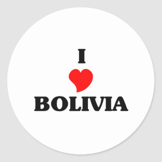 I Love Bolivia Round Sticker