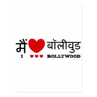 I Love Bollywood Postcard