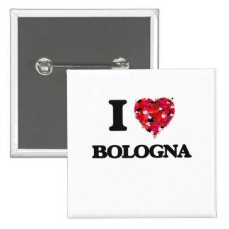 I Love Bologna 2 Inch Square Button