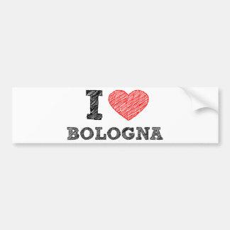 I Love Bologna Car Bumper Sticker