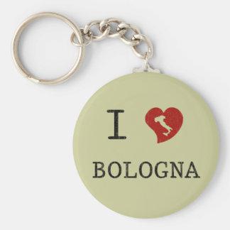 I Love Bologna Keychain